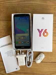 Huawei Y6 (2018) Mobile Phone Black 16GB 4G boxed - complete bundle - UNLOCKED