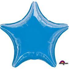 bleu métallisé étoile Ballon plat Anniversaire Mariage Décoration de fête