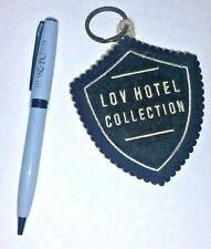LOV HOTEL COLLECTION LHC LUXURY PEN KEY CHAIN RARE HOTELS BOUTIQUE OFFICE SUPPLY