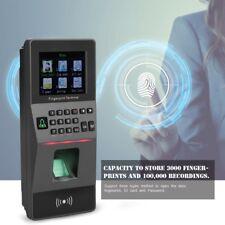 "2.8"" Marcatempo Timbracartellini Impronte Digitali Biometrico Monitor RFID Nero"