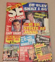 """Cary Grant Death Memorial +Dynasty Back Cover Danish Magazine 1986 """"Se og Hoer"""""""