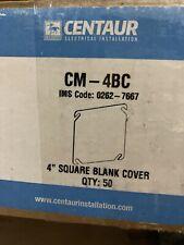 "Qty 50 Centaur Cm-4Bc 4"" Square Cover Flat Blank"