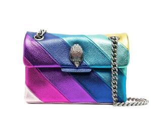 Kurt Geiger Women's Mini Kensington Metallic Stripe Rainbow Crossbody Bag