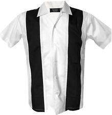 1950s 1960s Rockabilly ,Bowling, Retro, Vintage Men's shirt, 'New' White Black