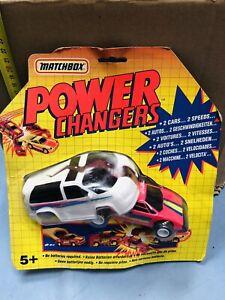 MATCHBOX POWER CHANGERS 2 AUTO 2 VELOCITA' NEW MOC VINTAGE!!!!nr4