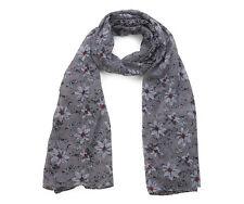 6a086fd31543 Écharpes et châles foulards gris à motif Floral pour femme   eBay