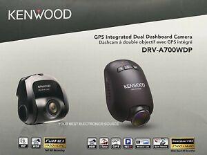 NEW Kenwood DRV-A700WDP Compact HD Dash Cam w/ Wi-Fi & GPS, w/ Rear-View Camera