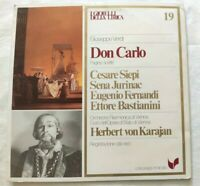 DON CARLO GIUSEPPE VERDI LP CESARE SIEPI JURINAC FERNANDI VINYL ITALY 1981 NM/NM
