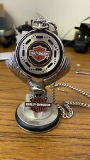 FRANKLIN MINT Harley Davidson Heritage Softail Classic POCKET WATCH with Stand
