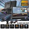 "1080P 4"" Dual Lens HD Car DVR Rearview Video Dash Cam Recorder Camera G-sensor"