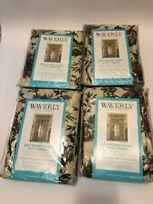"4 New Waverly Home Felicite Creme rod pocket panel curtains 50"" x 84"""