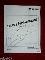 Crosman 99 Factory Service Manual With Exploded View