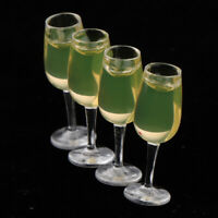 Dolls House Miniature Kitchen 4PCS Glass Wine Cup Party Pub Bar Accessory