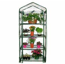 4 Tier Mini Greenhouse PVC Plastic Outdoor Garden Steel Frame Plants Grow House