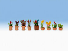 N Scale Scenery - 14080 - Ornamental Plants in Pots