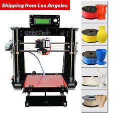 No Tax GEEETECH 3D Printer Upgraded Acrylic Reprap Pro B MK8 GT2560 LCD2004
