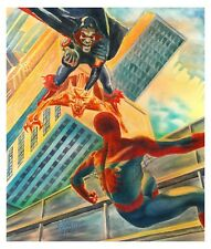 Spiderman Hobgoblin after Alex Ross ORIGINAL WATERCOLOR comic art