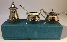 Vintage SILVER PLATE CRUET Set  - Unused - New Vintage Stock - Box And Wrapping