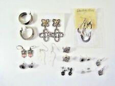 Pierced Jafra Charlotte Russe Rope Floral Glass Leverback Hook Stud Earring Lot
