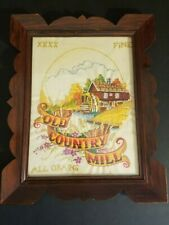 Wood Framed Sunset Stitchery Old Country Mill Barbara & Randy Jennings Crewel