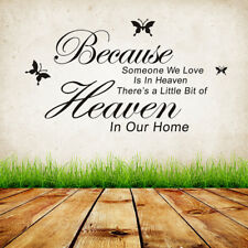 Room Because Someone We Love Is In Heaven DIY Words Wall Sticker Vinyl Art Decor