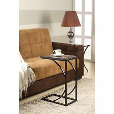 Kings Brand Furniture - Metal With Marble Finish Snack Side End Sofa Table