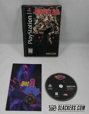 RESIDENT EVIL (Sony PlayStation 1 1996) COMPLETE! Orig LongBox PS1 PSX Zombies!!