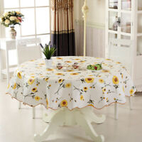 Round Home Picnic Waterproof Oil-proof PVC Tablecloth Party Table Cloth Cover