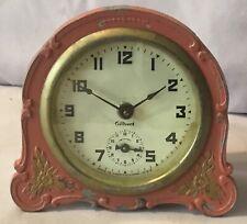 Gilbert Ornate Metal Alarm Clock - Pink - 1930's