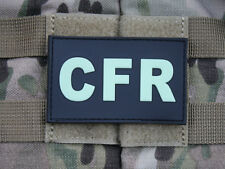 JTG-CFR-Combat First Responder-Patch, GID (GLOW IN THE DARK)/3d rubber P