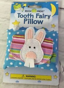 Rich Frog Bunny Rabbit Tooth Fairy Pillow and Keepsake Small Child Baby Kid NEW