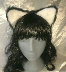 Wolf ears headband black & White cosplay costume fancy dress accessory
