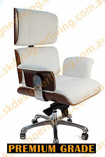 SKDL Replica WHITE Eames High Back Top Grain Leather Office Chair SK6808