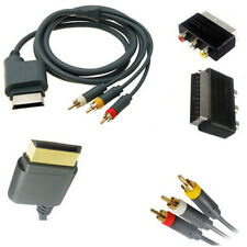 1.8M Composite AV Phono With Scart RCA Audio Video Adapter Cable HDTV, Xbox 360