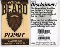 With Great BEARD Comes Great Responsibility drivers License id card