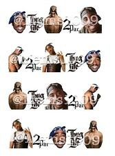 2 Pac Nail art Decals (water decals) Tupac Nail Art Decals