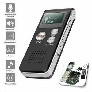 8G Digital Voice Recorder Activated Mini Digital Sound Audio Dictaphone MP3 NEU