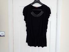Women's Savoir Black Beads  Vest Top T shirt Size 18 UK NCC Sizes on Photos