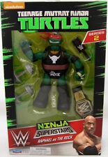 Raphael as The Rock Teenage Mutant Ninja Turtles WWE Action Figure Playmates NIB