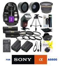 Sony Alpha a6600 35pc MEGA PRO ALL YOU NEED KIT LENSES FLASH BACKPACK 2XNP-FZ100
