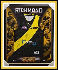 Richmond Tigers 2017 Signed Official AFL Team Jumper Framed Martin Cotchin + COA