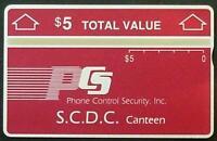 TK 284b Telefonkarte $5. Manning Prison (S.C.D.C.) 902A Landis & Gyr (Red/Rot)