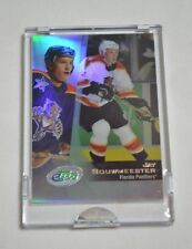 2002 ETOPPS RC JAY BOUWMEESTER FLORIDA PANTHERS CARD IN HAND READY TO MAIL