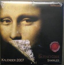 DA VINCI CODE SAKRILEG - KALENDER FÜR 2007 - DA VINCI CODE CALENDAR