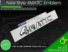 4Matic Trunk Emblem Chrome 3D Tailgate Lid OEM Logo Badge AMG New Style Modified