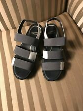 New Dansko Womens Sz 38 Shoes Sandals Diandra Grey/White
