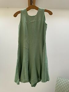 Genuine Vintage Girls Green Cotton Gymphlex Gymslip 1940s Playsuit Buttons