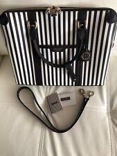 Henri Bendel Centennial Stripe Briefcase Rare