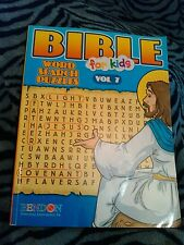 BIBLE for Kids Word Search Puzzles Volume 7 Book Paperback Children Activity