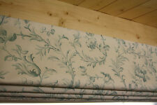 Roman Blind, Laura Ashley Ironwork Scroll Duckegg  Fabric  (Made to measure)
